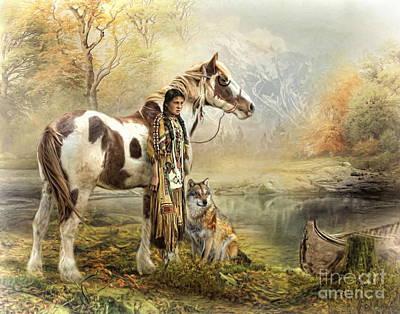 Digital Art -  Indian Autumn by Trudi Simmonds