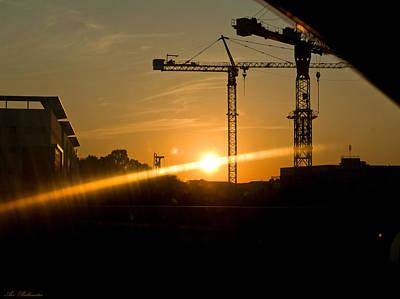 Industrial Sunrise Art Print