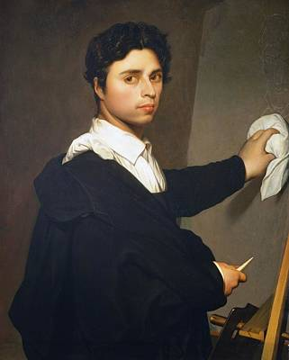 1850s Painting -  Ingres As A Young Man  by MotionAge Designs