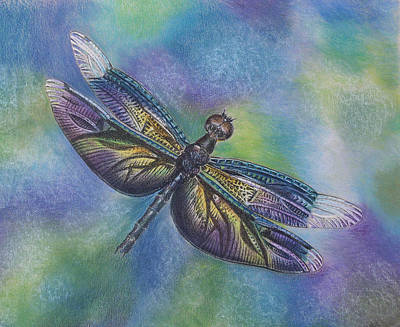 Iridescent Drawing -  Iridescence by Mary Jo Jung