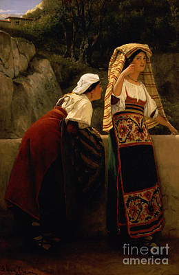 Italian Women From Abruzzo  Art Print by Sir Lawrence Alma-Tadema