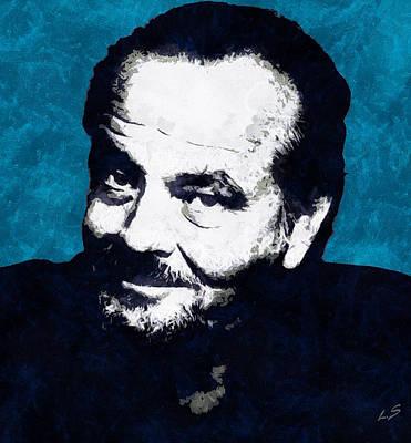 Jack Nicholson Digital Art -  Jack Nicholson by Sergey Lukashin