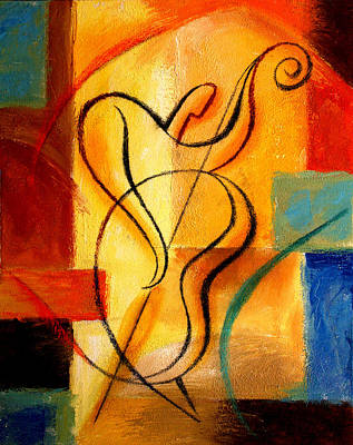 Abstract Forms Painting -  Jazz Fusion by Leon Zernitsky