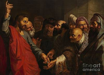 Century Painting -  Jesus And The Pharisees by Celestial Images