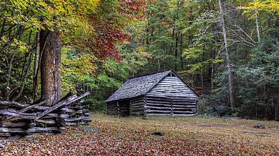 Photograph -  Jim Bales Place Barn Along Roaring Fork Motor Trail by Carol Montoya