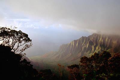 Kalalau Valley Na Pali Coast Kauai Hawaii Art Print by George Oze