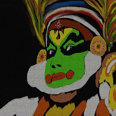 Kathakali Painting -  Kathakali Portrait by Art Spectrum