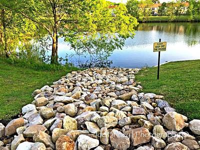 Photograph -  Keep Off The Rocks - No.430 by Joe Finney
