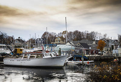 Photograph -  Kennebunkport Harbor  by Debra Forand