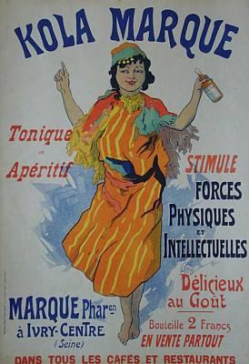 Kola Marque Original Vintage French Poster Original by Cheret Jules