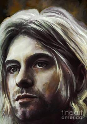 Kurt Cobain Painting -  Kurt by Andrzej Szczerski