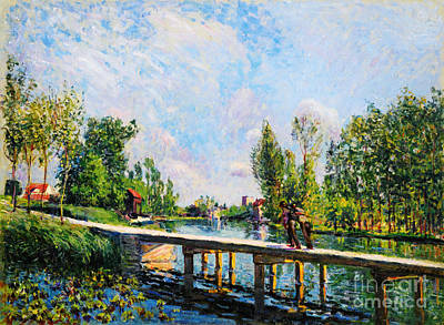 Painting -  La Passerelle  by Celestial Images