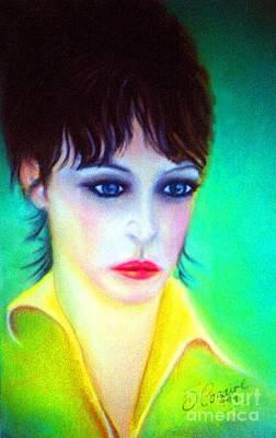 Bono Digital Art -  Lady Gaze by Liam O Conaire