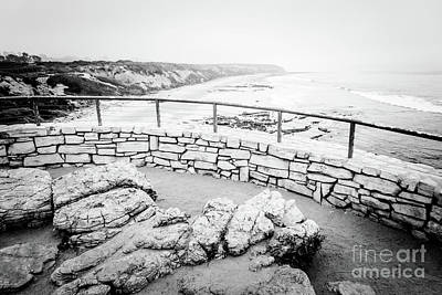Crystal Cove Photograph -  Laguna Beach Crystal Cove In Black And White by Paul Velgos