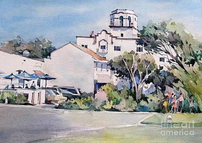 Cafe Painting -  Laguna Beach Hotel - California by Natalia Eremeyeva Duarte