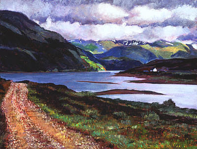Impressionism Paintings -  Lakeshore Road Scotland by David Lloyd Glover