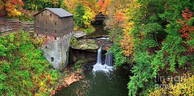 Photograph -  Lantermans Mill Pano  by Emmanuel Panagiotakis