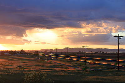 Photograph -  Last Light On The Railroad by Remegio Onia