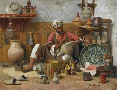 Painting -  L'atelier De Poterie, Tanger by Celestial Images