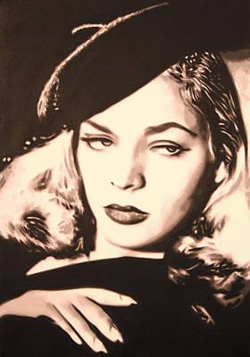 Lauren Bacall Painting - - Lauren Bacall - by Luis Ludzska