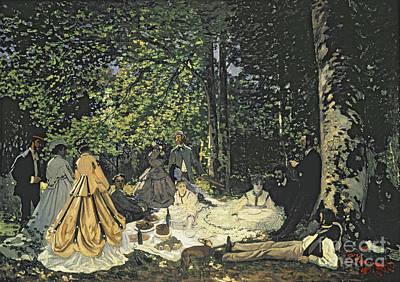 Painting -  Le Dejeuner Sur L'herbe by Celestial Images
