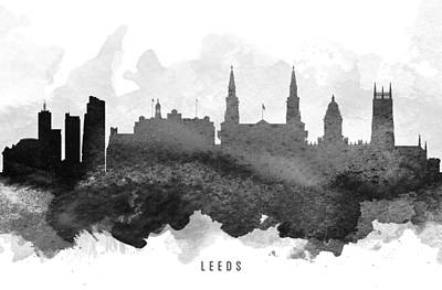 Leeds Painting -  Leeds Cityscape 11 by Aged Pixel