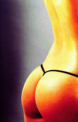 Nude Photograph -  Lemon Orange by Harvie Brown
