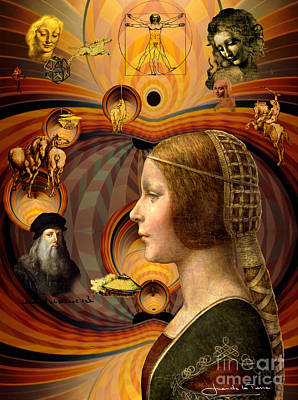 Art Gallery Painting -  Leonardo's Dream by Art Gallery