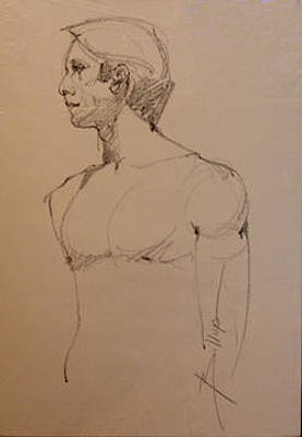 Life Drawing Male Figure Original