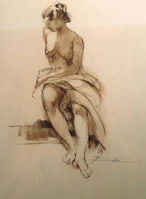 Life Drawing Seated Figure Original