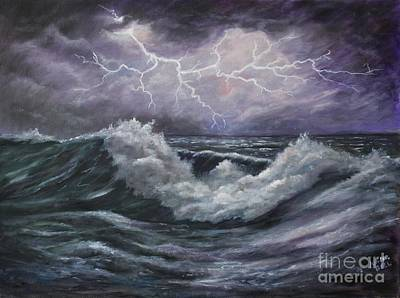 Refection Painting -  Lightning Reflection by Marlene Kinser Bell