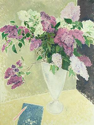 Lilacs Art Print by Glyn Warren Philpot