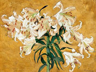 Painting -  Lillies by Celestial Images