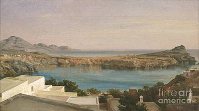 Rhodes Painting -  Lindos Rhodes by Celestial Images