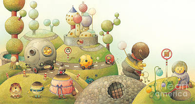 Lanscape Painting -  Lisas Journey06 by Kestutis Kasparavicius