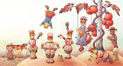 Russia Drawing -  Lisas Journey09 by Kestutis Kasparavicius