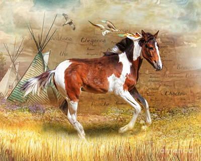Digital Art -  Little Apache by Trudi Simmonds