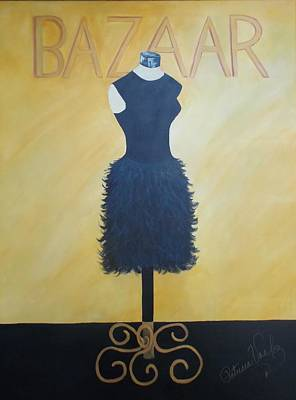 Painting -  Little Black Dress by Patricia Voelz