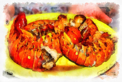 Photograph -  Lobster Dinner Cuban Style by Dawn Currie