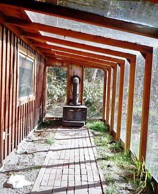 Log Cabin Sunroom Art Print