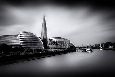 London City And The Shard.  Art Print by Ian Hufton