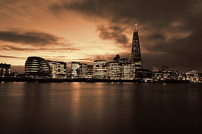 Photograph -  London Skyline And The Shard by Ken Brannen