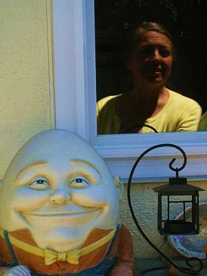 Humpty Dumpty Photograph -  Looking In Reflection Looking Out by John King