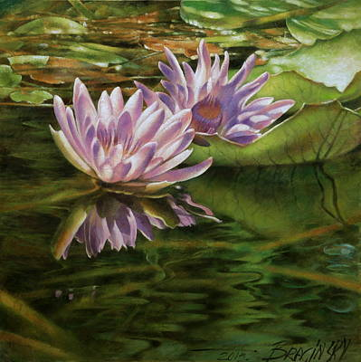 Hungary Painting -  Lotus Of Heviz by Arthur Braginsky