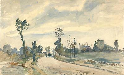 Louveciennes, Route De Saint Germain  Art Print by Camille Pissarro