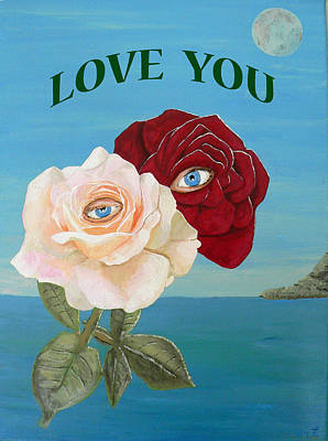 Painting -  Love  You by Eric Kempson