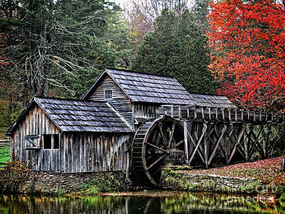Photograph -  Mabry Mill by Dawn Gari