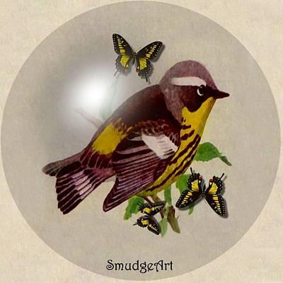 Warbler Digital Art -  Magnolia Warbler by Madeline  Allen - SmudgeArt