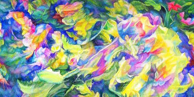 Intertwining Painting -  Awakening 3   by Maya Bukhina