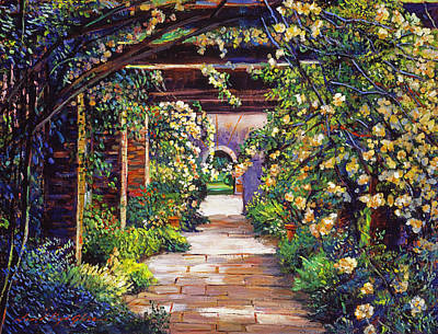 Pathways Painting -  Memory Lane by David Lloyd Glover